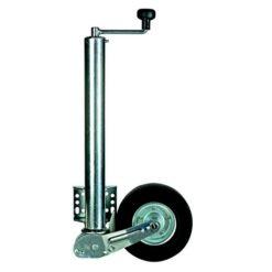 Støttehjul med automatik & montageflange