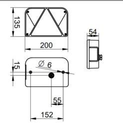 Multipoint Baglygte Dobplast DPT35 dimensioner