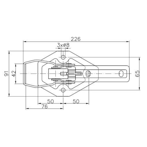 AU051 Lukketøj WW BV 20-3 dimensioner
