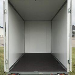STEMA Cargo trailer 301x153x180cm 2000kg - vist med begge døre åbnet