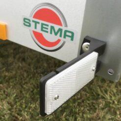 Stema FT 750 hvid markeringsrefleks på fleksibel gummiholder
