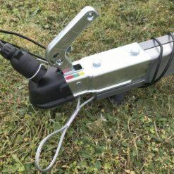 Stema FT 750 kuglekobling med gummibeskytter, sikkerhedswire samt holder for 7-polet stik
