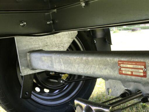 Stema FT 750 med bremse er forberedt til montage af støddæmpere